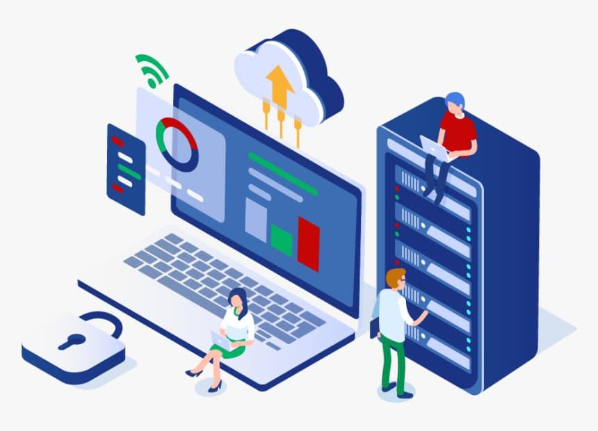 Dirección de sitio web que aloja un hosting
